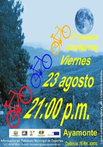 Cartel del cicloturismo en Ayamonte.