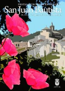 Cartel de las fiestas de San Juan en Linares de la Sierra.