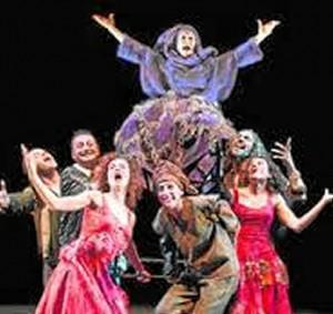 Representación teatral en Trigueros.