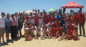 Campeones y sucampeones del Campeonato de España de fútbol playa.
