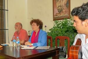 Alfonsa Acosta en el acto celebrado en Moguer.