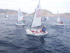 Campeonato de España de óptimist en Cartagena.