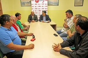 Reunión en la sede del PSOE.