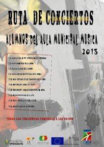 Cartel de la ruta de conciertos.