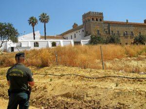 Vista exterior del monasterio de Lucena del Puerto.