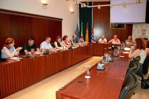 Reunión del Consejo Escolar en Cartaya.