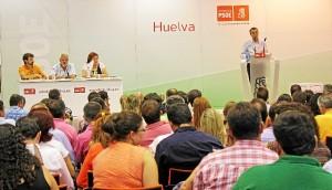Comité extraordinario del PSOE, celebrado en Villarrasa.