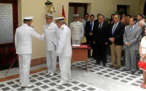 Acto de relevo de mando de la Comandancia Naval de Huelva.