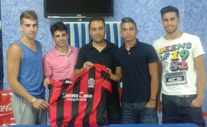 Futbolistas del CD Pinzón.
