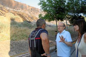 El alcalde ha estado en la zona afectada y ha recibido información de los bomberos que han actuado.