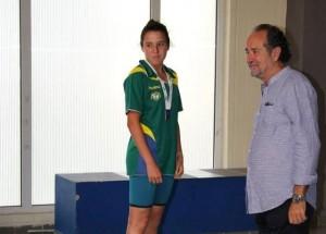 Andrea Figueroa, nadadora onubense.