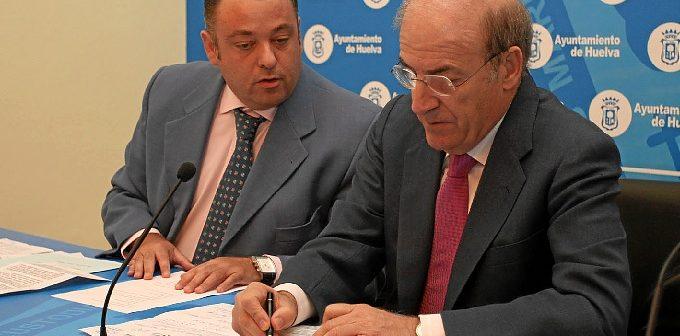 Juan Carlos Adame y Pedro Rodríguez en una comparencia ante los medios.