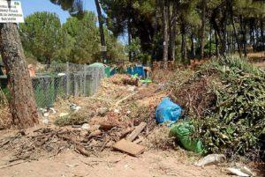 Basuras en una zona de Los Pinos. (Foto cedida por el PSOE)