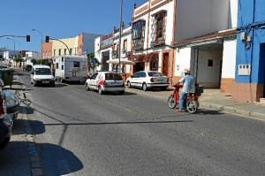 Tráfico en la calle Ronda de los Legionarios.