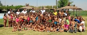 Participantes en el campamento de verano de San Juan.