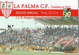Carnet de abonados de La Palma CF.