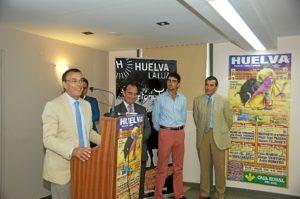 Presentación del destino Huelva y el cartel de Colombinas en Badajoz.