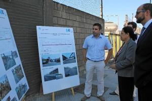 Recepción de las obras por parte de la presidenta del Puerto.