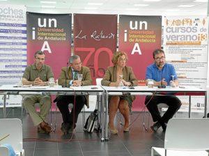 Terán, Suárez, Pelayo y Manfredi, en el arranque del curso.