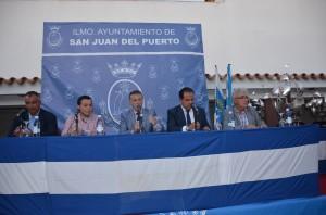 Presentación oficial del IXL Trofeo Colombino en San Juan del Puerto.
