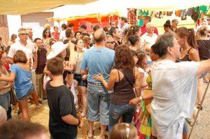 El mercado medieval tiene una gran afluencia de público todos los años.