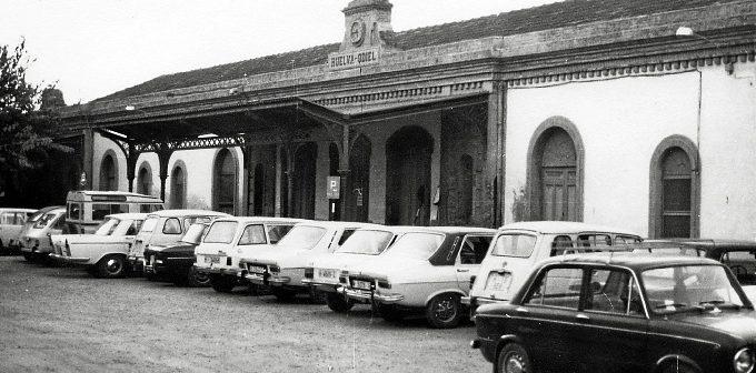 Imagen de la antigua estación de Zafra en Huelva.