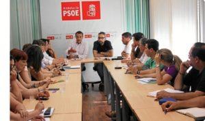 Reunión de la Ejecutiva socialista en Huelva.