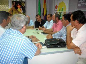 Reunión de UGT e IU.