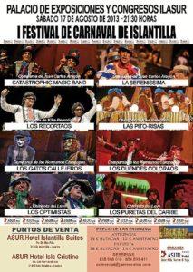 Cartel del Festival de Carnaval de Islantilla.