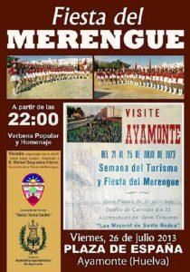 Cartel de la Fiesta del Merengue.