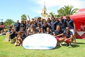 Foto de grupo de algunos de los destacados participantes en la gala.