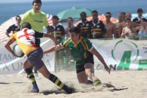 Torneo de rugby playa.