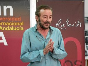 El actor Juan Diego, en la UNIA.