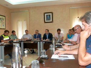 Reunión de la junta local de seguridad de Almonte.