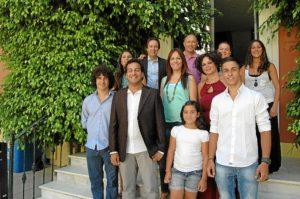 Participantes en el ciclo flamenco onubense.