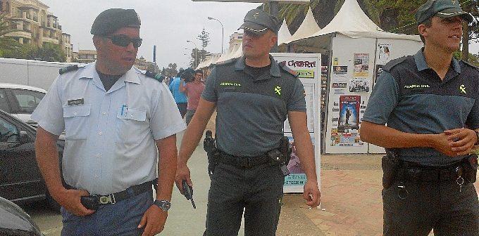 Patrulla internacional en la Costa de Huelva.