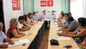 Plenario de la ejecutiva del PSOE.