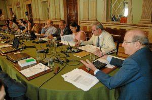 Sesión plenaria de este mes en el Ayuntamiento de Huelva.