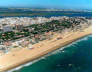 Vista aérea de Punta Umbría.