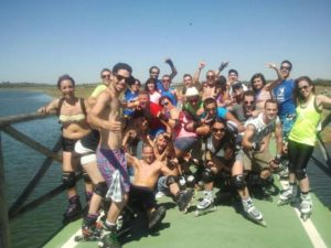 Club Huelva en patines.
