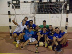 Equipo ganador de fútbol sala.
