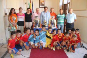 Copa del Mundo y dos Eurocopas en San Juan del Puerto.
