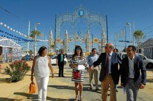 Visita de los responsables municipales al Recinto Colombino.