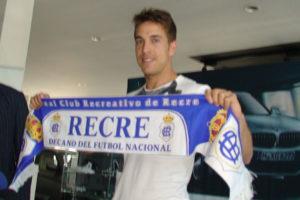 Álvaro Antón, nuevo jugador del Recreativo de Huelva.