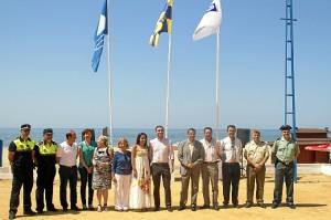 La Bandera Azul ya ha sido izada en la playa del Parador de Mazagón.