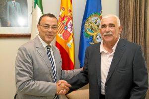 Caraballo ha mostrado el apoyo de la Diputación al festival moguereño.