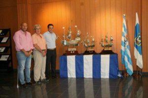 Las carabelas de plata del Trofeo Colombino en San Juan del Puerto.