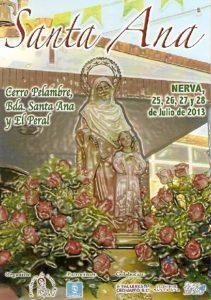 Cartel de las fiestas en Nerva.