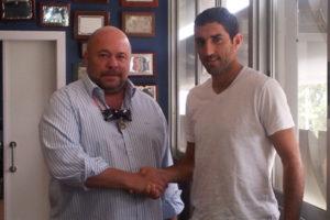 Pablo Comas junto a Hernán Menosse.