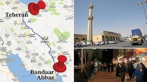 La quinta etapa comienza en Teherán, una ciudad que cuenta con diez millones de habitantes, hasta Bandaar Abbas. el puerto situado en el Golfo Pérsico.